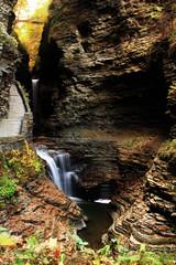 Stairway to Autumn (dennoit) Tags: statepark park autumn newyork fall water waterfall stream state foliage gorge fingerlakes watkinsglen watkinsglenstatepark
