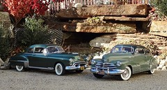 1948 Chevrolet Fleetline AeroSedan & 1949 Oldsmobile Rocket 88 Club Coupe (JCarnutz) Tags: 1948 chevrolet 1949 oldsmobile fleetline diecast rocket88 124scale danburymint aerosedan