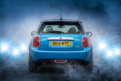 F56 MINI Cooper D (MAC-Photography.co.uk) Tags: car smoke transport mini automotive cooper flare vehicle f56 electricblue flashes minicooperd