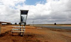 Telephone Kiosk (Kaptain Kobold) Tags: road bench telstra outback kiosk southaustralia cockburn hbm optus kaptainkobold yourfave benchmonday