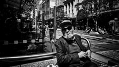 afganistan blues (Yiannis Yiasaris) Tags: city people blackandwhite streetphotography australia melbourne pancake 16mm ultrawideangle sonya6000