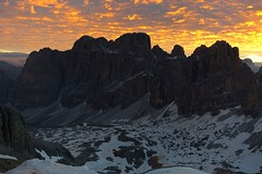 Dawn at Rifugio Lagazuoi