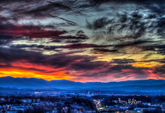 December Dusk - Roanoke Valley (Terry Aldhizer) Tags: december dusk roanoke valley blue ridge mountains city sunset twilight clouds colors glow sky buildings virginia terry aldhizer wwwterryaldhizercom