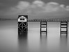 Standing Firm (DBLucas_photos) Tags: swansea mumbles gower lifeboat boat station blackandwhite mono monochrome slowshutter longexposure seascape landscape cloud wales welsh olympus em10 omd 1240 coast