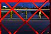 Bridges (Otacílio Rodrigues) Tags: triângulos triangles pontes bridges rio river reflexos reflections água water céu sky postes lampposts grades railings urban cidade city resende brasil oro grafismo graphism topf25