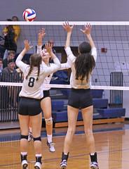 IMG_8095-01 (SJH Foto) Tags: girls volleyball high school york delone catholic team teen teenager net battle spike block action shot jump midair