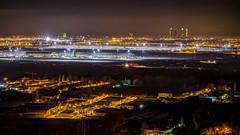 Madrid Airport Landscape (Juaberna) Tags: madrid nocturna night landscape skyline airport barajas