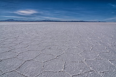 The salt (Matt S Dawson) Tags: salt flats saltflats uyuni bolivia mountains mountain blue sky bluesky hexagons pentagons rock