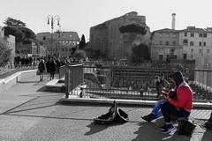 IMG_1049 (mazzottaalessandra) Tags: rome roma colosseo monocromo colori musica artistidistrada chitarra urbanlife life street italy canon foriimperiali contrast colors