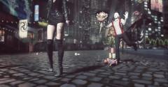 Mime 🎭 (nimedaviau) Tags: aphorism boots dress jacket black mime secondlife virtual girl women ashemi fashion blog