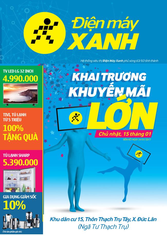 Khai trương siêu thị Điện máy XANH Đức Lân, Quảng Ngãi