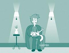 Gato (Susicalifragilísticaespiralidosa) Tags: gato duotono adoptar ilustración manosdetopo animaldecompañia