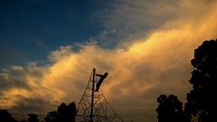Jack and the Sky. (ambientlight) Tags: ambientlight ambientlightgroup boy sky sunset clouds big wide mood vast jack jackson