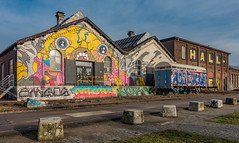 End of the line (Jorden Esser) Tags: spoorzone tilburg graffiti hall hww railcar railway wall wallwednesday windowswednesday spoorzone013 nederlandvandaag
