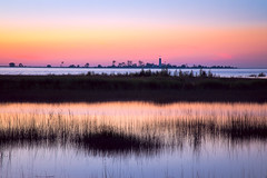 pastel sunset (JimfromCanada) Tags: sunset lighthouse reflection evening summer pastel color colour water lake waterfront portelgin chantry southampton ontario