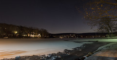 365-15 (• estatik •) Tags: 36515 365 15 january152017 jan sunday sun night long exposure space panorama frozen lake erskine ringwood nj new jersey passaic county north bsky community shore shoreline beach
