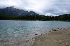 Patricia Lake (Patricia Henschen) Tags: patricia lake jasper nationalpark jaspernationalpark alberta canada parks parcs aspen forest clouds cloudy mountains rockies canadian northern rocky boreal