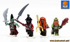 ORCS WARRIORS (baronsat) Tags: lego orcs warriors custom minifigs castle conan heroic fantasy sword sorcery