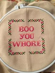 Cross Stitch (Jen Savage) Tags: crafts crossstitch needlework meangirls