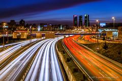 Madrid A-1 Highway (BryantBA) Tags: madrid comunidaddemadrid spain es lastablas mymadrid canon5dmarkiii cityscape nightscape nightphotography longexposure bluehour highway ctba highlights