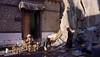 Cleaning butter lamps, India 2016 (reurinkjan) Tags: india 2016 ©janreurink himachalpradesh spiti kinaur ladakh kargil jammuandkashmir sheymonastery sheypalace sheygompa woman man butterlamps polishedbutterlamp