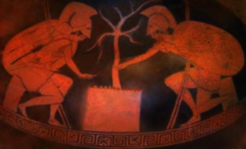 "Petteia - Ludus Latrunculorum  / Iconografía de las civilizaciones helenolatinas • <a style=""font-size:0.8em;"" href=""http://www.flickr.com/photos/30735181@N00/32143100690/"" target=""_blank"">View on Flickr</a>"