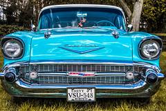 57 (StevePilbrow) Tags: 1957 chevrolet blue classic muscle grass green car automobile usa america beautiful grill billing aquadrome show nikon 7200 nikkor 18105mm 2016
