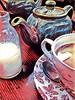 #22/117 Tea things (Alan Pope) Tags: tea 117 milk cup teapot saucer spoon