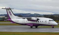 OE-GBB Dornier 328 TAA (GSairpics) Tags: oegbb d328 dornier328 taa tyrolairambulance prop turboprop aircraft aeroplane airplane aviation transport travel airliner airport gla egpf glasgowairport renfrewshire scotland
