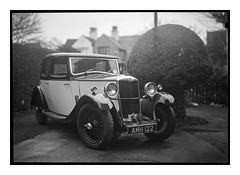 riley_graflex_slr_01 (D_M_J) Tags: riley 9 nine monaco 1934 vintage car film camera large format 5x7 sheet graflex press slr fomapan foma 200 rodinal r09 tray development 150 epson v850 fluid mount wet scan vuescan black white bw blackandwhite mono monochrome creative