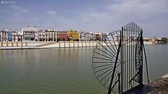 DSC02265-Canal de Alfonso XIII, Sewilla (dreptacz) Tags: sevilla rzeka hiszpania andaluzja domy architektura sony slt brama widok lustrzanka