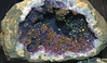 Fake geode - chalcopyrite on amethyst (Morocco) 5 (James St. John) Tags: fake amethyst chalcopyrite geode geodes quartz silica silicate silicates mineral minerals morocco