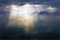 Breakthrough (mikeyp2000) Tags: sunburst sun england dark cloudscape sunshine sunrays break ray landscape sky moody aerial weather breakthrough clouds