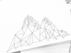 rock (Alexey Tyudelekov) Tags: balck white pen mountain triangles petersburg
