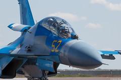 Kazakhstan Air Force Sukhoi Su-27UBM2 52 Yellow taxiing back to the platform, KADEX-2016, Astana Kazakhstan (Jeroen.B) Tags: 2016 airport defence expo kadex kazachstan kazakhstan uacc қазақстанның air force sukhoi su27ubm2 27 su27 su27ub 52 yellow ye 96310415083 taxiing kadex2016 astana