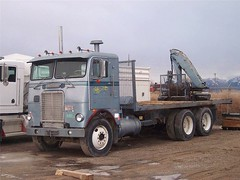 White Freightliner on the web (PAcarhauler) Tags: freightliner cabover coe truck