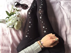 {Collant: Calzedonia } (francescaponzone) Tags: collantstars stars stelle fashion leg girls girl me ragazza outfitoftheday outfit blogger blog fashionblogger fashionblog moda mode fashionicon socks fashionsocks collant calze calzedonia