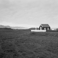Little church in a small island (davidgarciadorado) Tags: iceland 6x6 blackandwhite film ngc