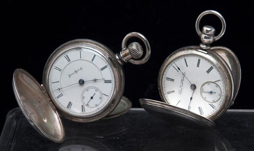 Illinois and Elgin Coin Silver Pocket Watches ($268.80)