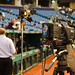 News crew set up for Rays, Tropicana Field