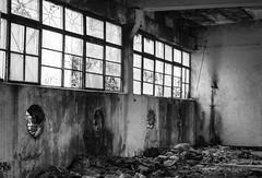 Desolate Concrete (scarlat_cristy) Tags: windows light urban abandoned de concrete ruins mess factory ruin holes walls vede rosiori rosioridevede