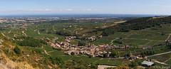 View from Roche de Solutré (TheTomatoBag) Tags: panorama rock canon landscape stitched macon 6d solutre 2470
