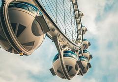 Las Vegas High Roller (Tony Webster) Tags: sky us unitedstates lasvegas nevada ferriswheel highroller