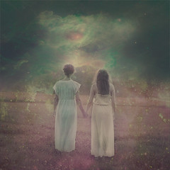We are infinite (Beata Rydn) Tags: woman field fairytale sisters photoshop togetherness holding hands women pastel space dream together imagine imagination dreamy universe infinite existence motheranddaughter sisterhood fineartphotography pasteltones neverending conceptualphotography beataryden