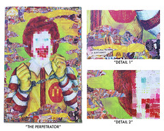"""The Perpetrator""  - 3ft H X 2ft W (DST TO INFINITY) (DST TO INFINITY) Tags: street new york red food inspiration art apple yellow collage brooklyn vintage pose comics ronald menu children pie toys happy corporate death big amazing artwork mac hands colorful artist cola infinity paste wheat fastfood style coke away mcdonalds mc criminal fries unite meal dollar posters mugshot rodeo quarter grimace series dane soda organic lit dope poison tear popular msg filet delectable gmo thompson cuffs flurry lure mcdonald hambuger pedigree hamburglar mcchicken dst censured pounder instagram"