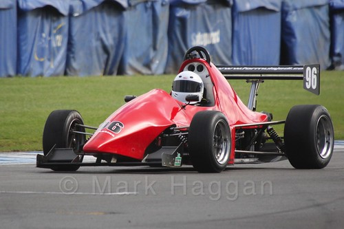 Karl Davidson in Formula Jedi at Donington, September 2015