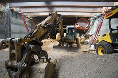 150915_1225_UMS (Central Subway) Tags: sf sanfrancisco roof project fan construction muni extension lightrail unionsquare ventilation excavator phase2 stocktonstreet ellisstreet centralsubway sanfranciscomunicipalrailway sfmta steelibeams southconcourse tthirdline sanfranciscomunicipaltransportationagency unionsquaremarketstreetstation