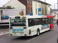 NXWM 1641 Stafford Street, Walsall (Lady Wulfrun) Tags: 3 bus mercedes riot october lastday 3rd westmidlands walsall 301 inward 2013 405n staffordstreet t641fob