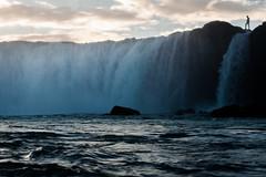 Goðafoss (blue polaris) Tags: travel sunset river landscape waterfall iceland dusk godafoss goðafoss skjálfandafljót skjalfandafljot