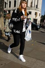 Crew Flag (bakersam100) Tags: street portrait london tourism photography funny humorous candid trafalgar tourist